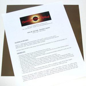 SolarLite Filter Sheets